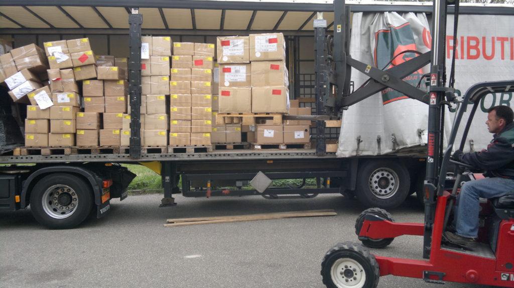 fijnmazige distributie, van pallets naar dozen