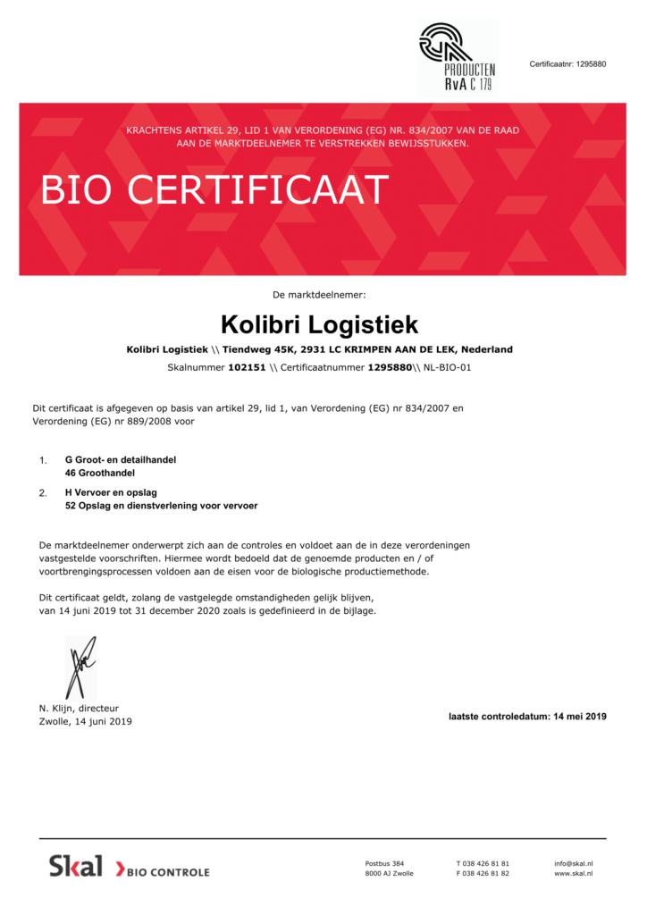 Skal certificaat