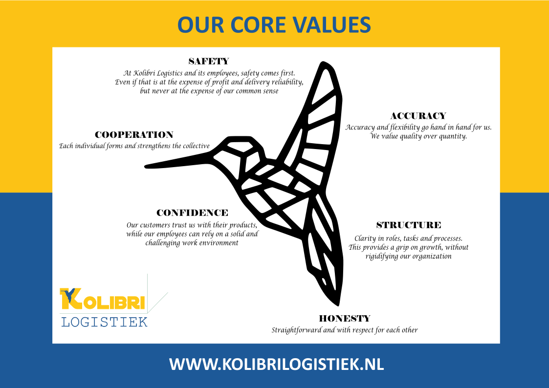Core Values Kolibri Logistiek